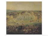 The Chateau de Versailles and the Place D'Armes, 1722 Giclee Print by Pierre-Denis Martin