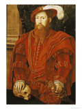 Portrait of a Gentleman of the English Court, 1546 Giclee Print by Hans Eworth