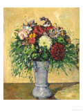 Bouquet of Flowers in a Vase, circa 1877 Giclee Print by Paul Cézanne