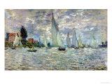 The Boats, or Regatta at Argenteuil, circa 1874 Giclée-tryk af Claude Monet
