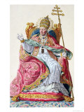 Pope Pius VI from 'Receuil des Estampes, Representant Les Rangs et Les Dignites Giclee Print by Pierre Duflos