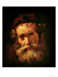 A Rabbi Impresso gicle por Rembrandt van Rijn