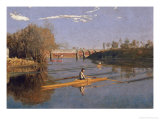 Max Schmitt in a Single Scull, 1871 Premium Giclee Print by Thomas Cowperthwait Eakins
