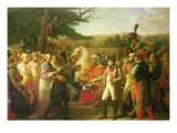 Napoleon Bonaparte Receiving the Keys of Vienna at the Schloss Schonbrunn, 13th November 1805, 1808 Gicle-tryk af Anne-Louis Girodet de Roussy-Trioson