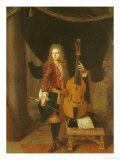 Portrait of Johann Schenck Giclee Print by Constantin Netscher