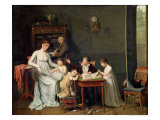 Portrait of a Family, 1800-01 Giclee Print by Joseph Marcellin Combette
