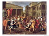 The Rape of the Sabines, circa 1637-38 Giclee Print by Nicolas Poussin