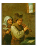 The Old Couple Giclee Print by Adriaen Jansz. Van Ostade