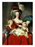 Marie-Antoinette and Her Four Children, 1787 Giclée-Druck von Elisabeth Louise Vigee-LeBrun