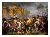 The Sabine Women, 1799 Gicleetryck av Jacques-Louis David