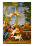 The Holy Family with St. Elizabeth and St. John the Baptist, circa 1645-50 Giclee Print by Francesco Albani