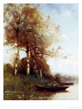 Morning Effect, Silver Birches and a River Giclee Print by Paul Desire Trouillebert