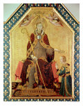 St. Louis of Toulouse Crowning His Brother, Robert of Anjou from the Altar of St. Louis of Toulouse Giclee Print by Simone Martini
