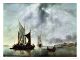 Calm Or, Boats Near the Coast, after 1651 Giclee Print by Jan Van De Capelle Or Cappelle