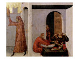 St. Louis of Toulouse Appearing at the Bedside of a Sick Child Giclee Print by Simone Martini