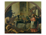 St. Charles Borromeo Visiting the Plague Victims in Milan in 1576 Giclee Print by Karel Skreta