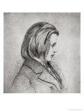 Portrait of Johanes Brahms Aged Twenty, 1853 Giclee Print by Joseph Bonaventure Laurens