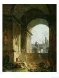 Picturesque View of the Capitol Reproduction procédé giclée par Hubert Robert