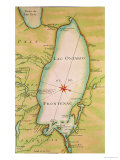 Map of Lake Ontario Giclee Print