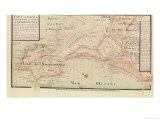 Map of Bas-Poitou and the Ile de Noirmoutier Giclee Print by Claude Masse