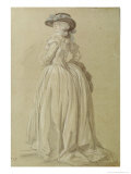 Standing Young Woman Giclee Print by Francois Louis Joseph Watteau