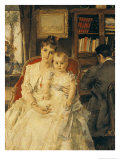All Happiness circa 1880 Giclee Print by Alfred Emile Léopold Stevens
