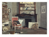 Interior of the Study of Doctor X Giclee Print by Jean-Charles Cazin