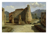 The Forum of Pompeii Giclee Print by Achille Etna Michallon