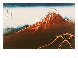 "Fuji Above the Lightning"", from the Series ""36 Views of Mt. Fuji"" Giclee Print by Katsushika Hokusai"
