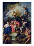 Louis XIV Crowned by Glory, circa 1686 Giclee Print by Antoine Coypel