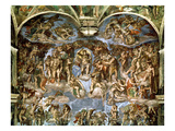 Last Judgement, from the Sistine Chapel, 1538-41 (Fresco) Giclee Print by  Michelangelo Buonarroti