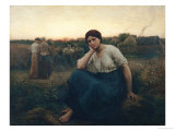 Evening, 1860 Giclee Print by Jules Breton