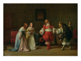 Mascarille Presenting Jodelet to Cathos and Madelon, 1865 Giclee Print by Jean Hegesippe Vetter