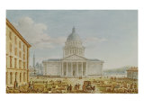 View of the Church of St. Genevieve, the Pantheon, 18th-19th Century Giclee Print by Victor Jean Nicolle