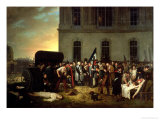 Burial of Victims of July Revolution in Front of Colonnade of Louvre, 30th July 1830 Giclee Print by Jean Alphonse Roehn