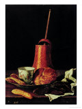 Still Life with a Drinking Chocolate Set, 1770 Giclee Print by Luis Egidio Melendez