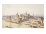 """The Louvre During the Reign of Charles V """"The Wise"""" Giclee Print by Theodor Josef Hubert Hoffbauer"""