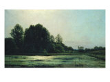 Landscape at Cernay, 1866 Giclee Print by Emile Adelard Breton