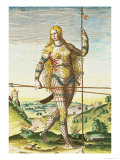 "Pictish Woman, from ""Admiranda Narratio..."", 1585-88 Giclee Print by John White"