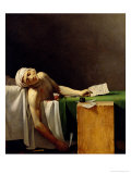 The Death of Marat, after the Original by Jacques-Louis David Giclee Print by Jerome Martin Langlois