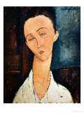 Portrait of Lunia Czechowska, 1918 Giclee Print by Amedeo Modigliani