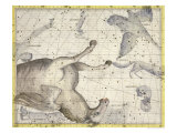 "Constellation of Pegasus, Plate 25 from ""Atlas Coelestis"", by John Flamsteed, Published in 1729 Giclee Print by Sir James Thornhill"