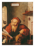St. Jerome, after a Painting by Quentin Massys or Metsys Giclee Print by Gautard De Pezenas 