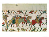 Count Guy Leads Him to Beurain Where He Keeps Him, Detail from the Bayeux Tapestry, Before 1082 Giclee Print
