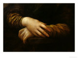Mona Lisa, Detail of Her Hands, circa 1503-06 Reproduction procédé giclée par Leonardo da Vinci