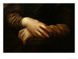 Mona Lisa, Detail of Her Hands, circa 1503-06 Giclee-trykk av  Leonardo da Vinci