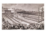 Festival of the Federation, 14 July 1790, at the Champ de Mars, Late 18th Century Giclee Print by Charles Monnet