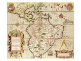 "Map of Central and South America, from ""Americae Tertia Pars.."", 1562 Giclee Print by Theodor de Bry"
