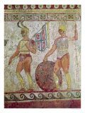 Foot Soldiers, Tomb Painting from Paestum Giclee Print