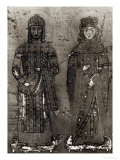 Manuel I Comnenus and Empress Maria of Antioch Giclee Print